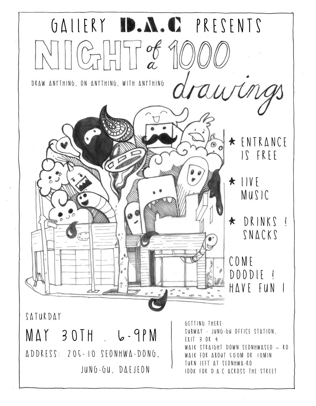 1000 drawings_poster