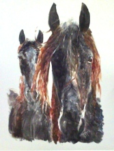 Two Horses, Monotype