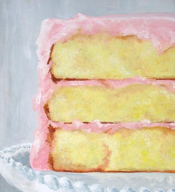 Cake, Gouache on Gesso Board