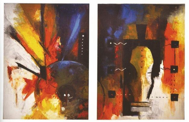 Past vs Future, Oil Painting, 120x80