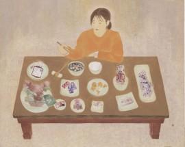 The table of belife 130.3x162.2cm 순지에 혼합재료 2015 [출처] 믿음의 상|작성자 미스안An Hyun Jung