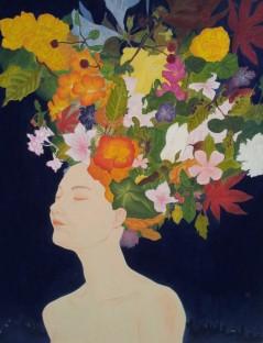 도시전설-flower 91.0x116.8cm/순지에 분채/2013 [출처] 도시전설 Flower|작성자 미스안An Hyun Jung