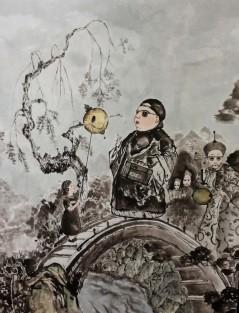 Nightingale 90.9x72,7 cm . 한지에 먹. 2014 [출처] 나이팅게일|작성자 미스안An Hyun Jung