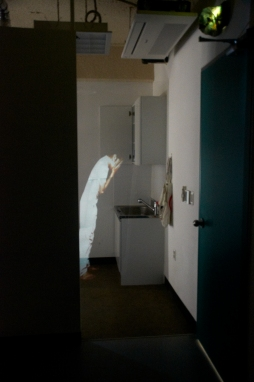How we may see in a chamber things that are not (Photo-graph of The Artist is Present) Photographic installation 2013