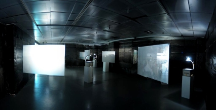 Void: Physical, Metaphysical Installation of Overhead Projector on treated Acrylic sheet Ongoing since 2008
