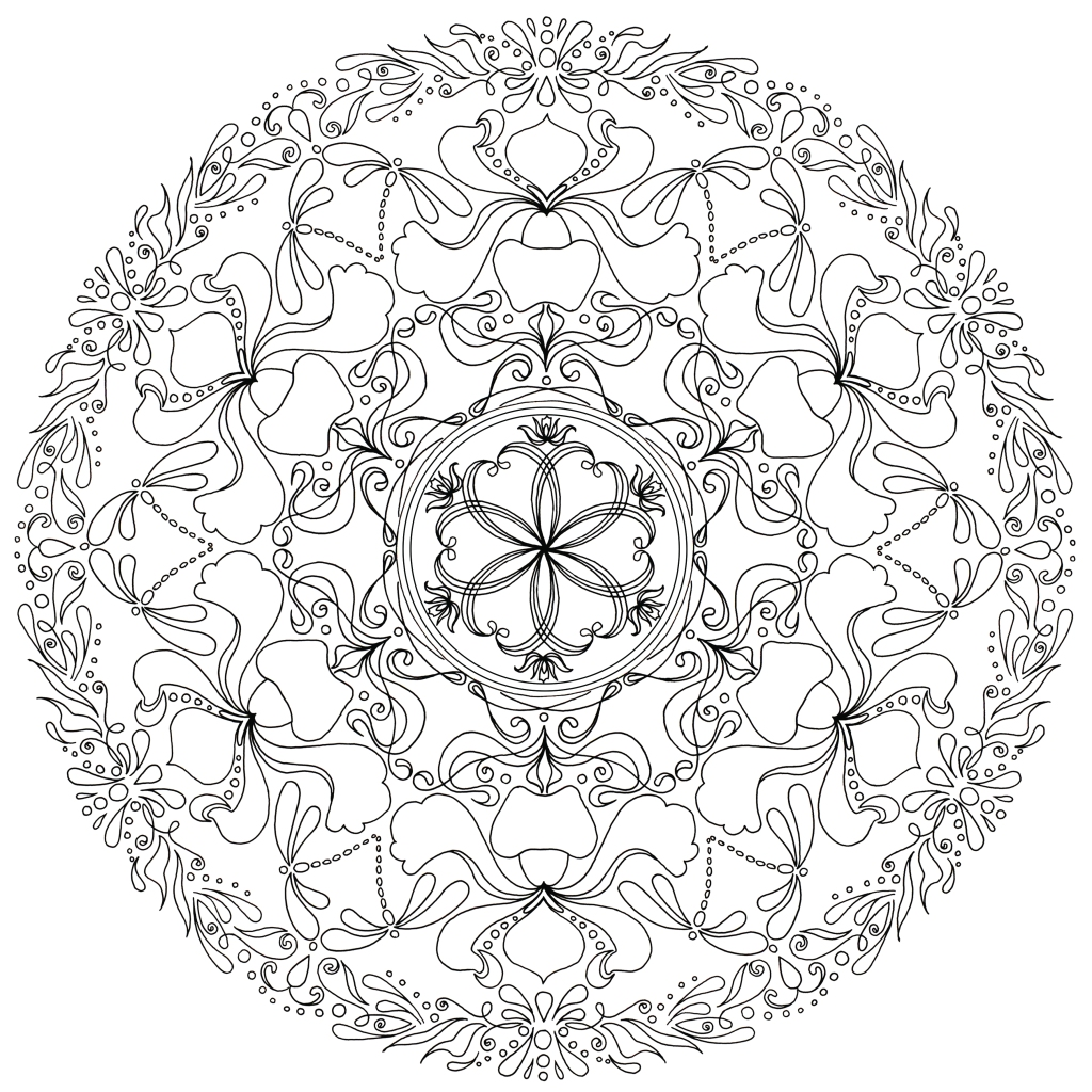 A mandalas from one of my coloring books.